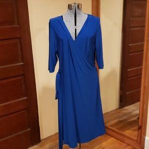 Blue Kiyonna wrap dress